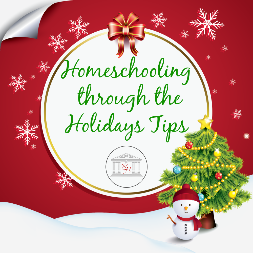Homeschooling through the Holidays Tips
